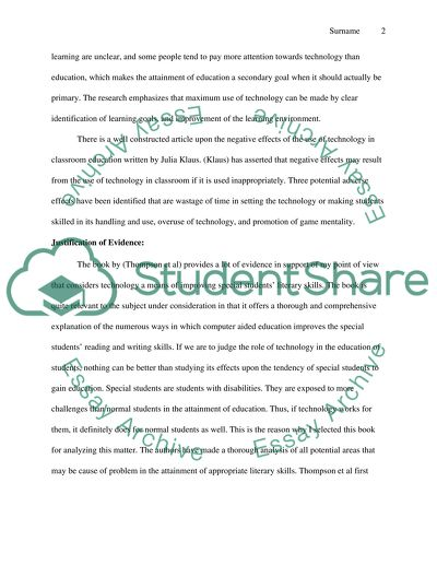 I believe that using technology is a good way to improve our students literacy my Phenomenon