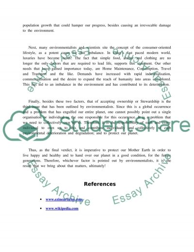 Environmental Sustainability Essay essay example