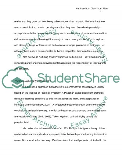 The Classroom Plan essay example