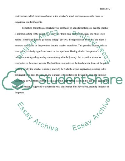 Thesis Statement Example For Essays Analysis On Robert Frost Stopping By Woods On A Snowy Evening The Yellow Wallpaper Critical Essay also Research Proposal Essay Analysis On Robert Frost Stopping By Woods On A Snowy Evening Essay Jane Eyre Essay Thesis