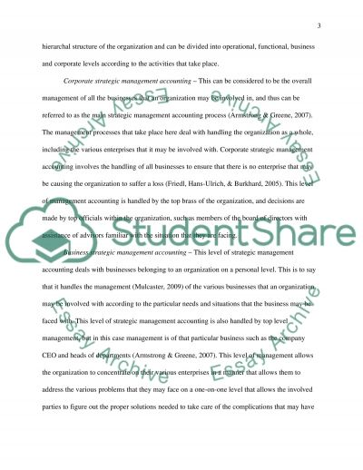 The Relevance of Strategic Management Accounting essay example