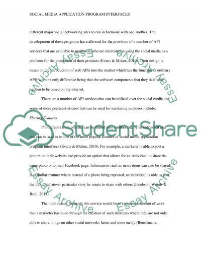 Social Media Application Program Interfaces essay example