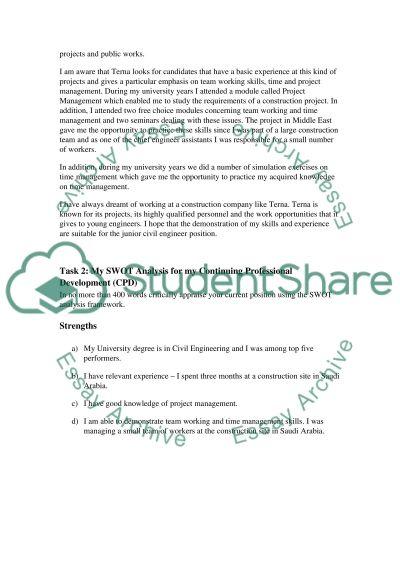 Employment plan coursework essay example