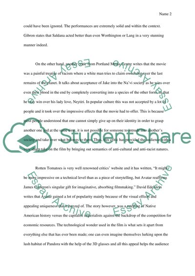 Avatar Essay Example | Topics and Well Written Essays - 750 words