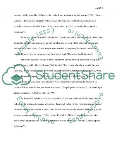 Shawnee Political Leader essay example