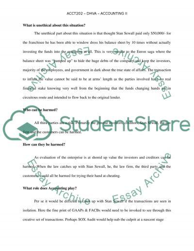 ACCT202 - DVHA - Accounting II essay example