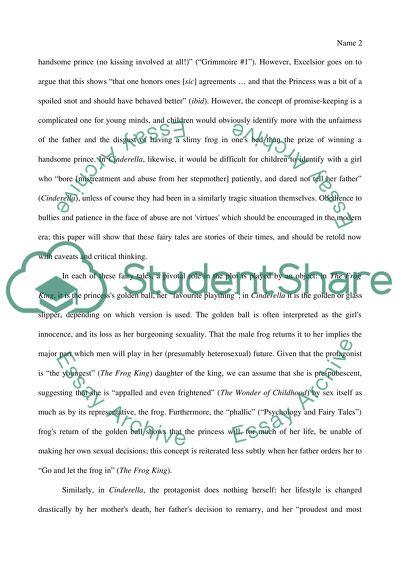 cinderella essay fairy synthesis tale