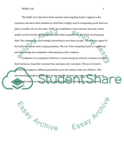fedex ad analysis essay example  topics and well written essays  fedex ad analysis