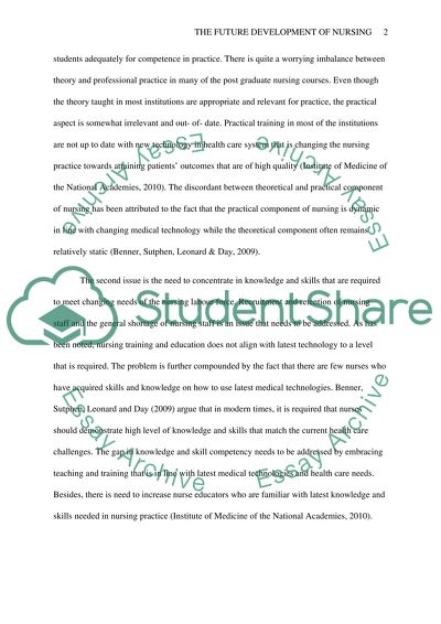Thesis For Persuasive Essay The Future Development Of Nursing English Essay Writer also Interview Essay Paper The Future Development Of Nursing Essay Example  Topics And Well  Top English Essays