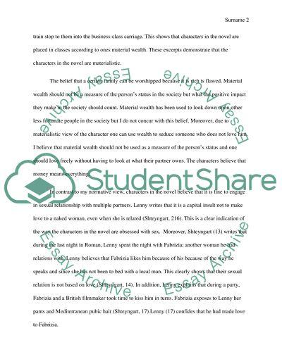 Love story essays
