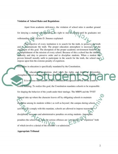reasons why students violate school rules and regulations essay