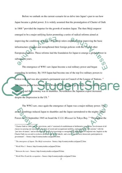 Foreign Policies Japan essay example