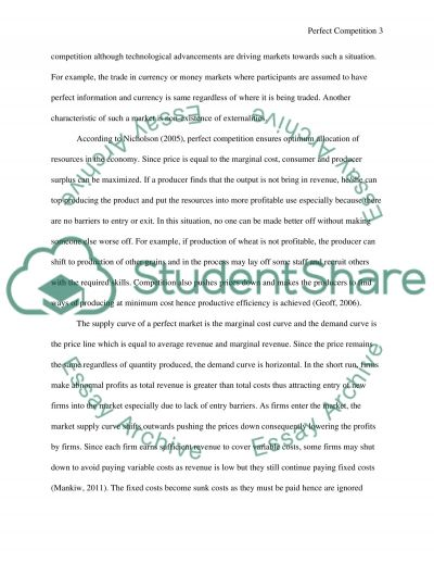 Perfect Competition essay example