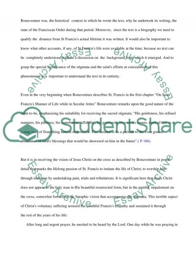 St. Francis essay example