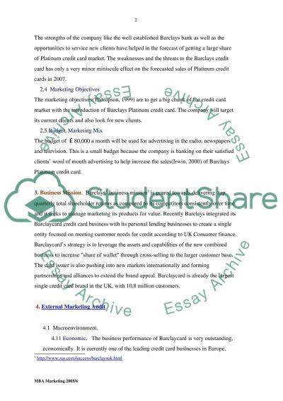Marketing Plan Assignment essay example