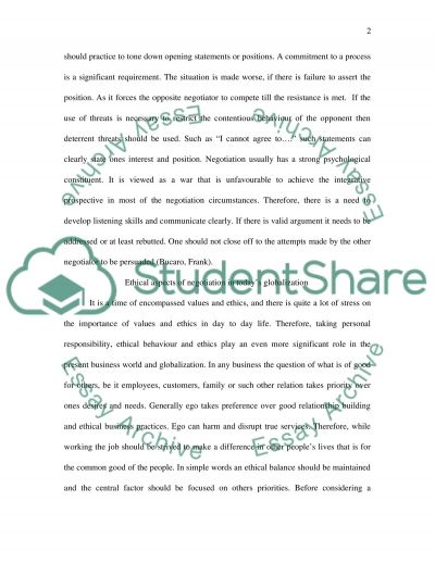 Ethical Pitfalls in Negotiation essay example