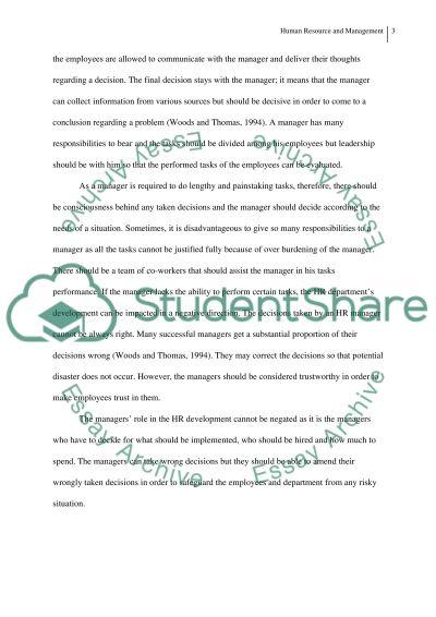 HR essay example