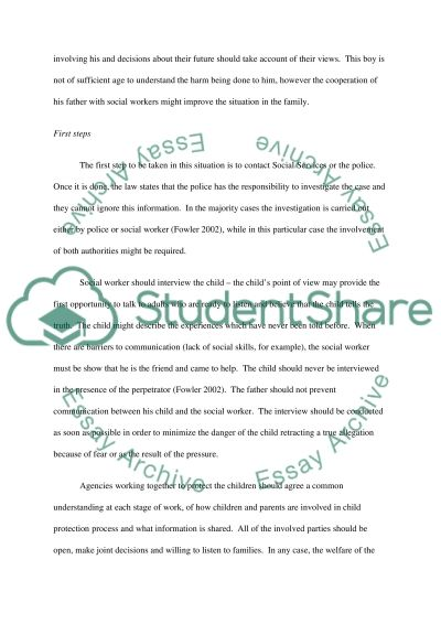 Child Protection Essay essay example