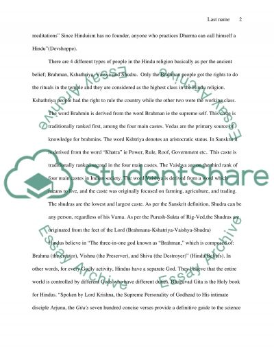 Hinduism and Islam Essay example