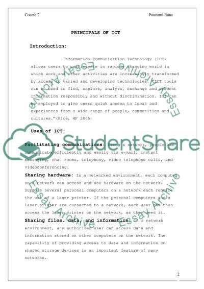 Information Communication Technology essay example