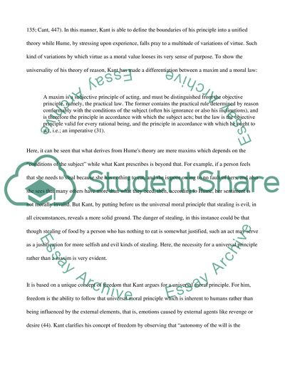 Example Of A Good Thesis Statement For An Essay Ethics David Hume And Kant Personal Essay Thesis Statement Examples also Essays About English Language Ethics David Hume And Kant Essay Example  Topics And Well Written  Essay Papers For Sale