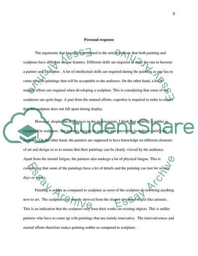 Art history response paper
