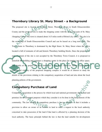 Project Analysis St. Mary Shopping Centre Thornbury essay example