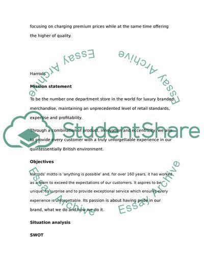 marketing plan paper sample