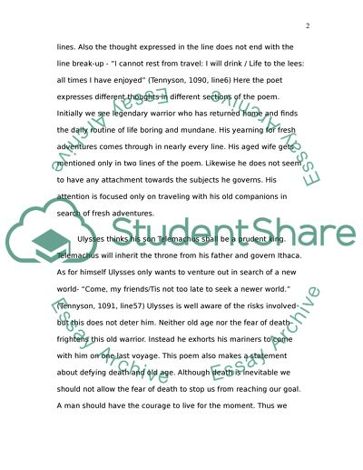 Poem Assignment Analysis or Character