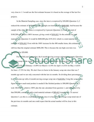 Analyzing Direct Costs essay example