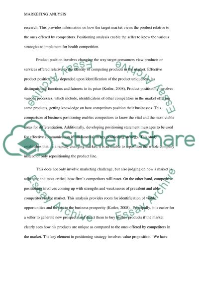 Individual Marketing Analysis Paper essay example