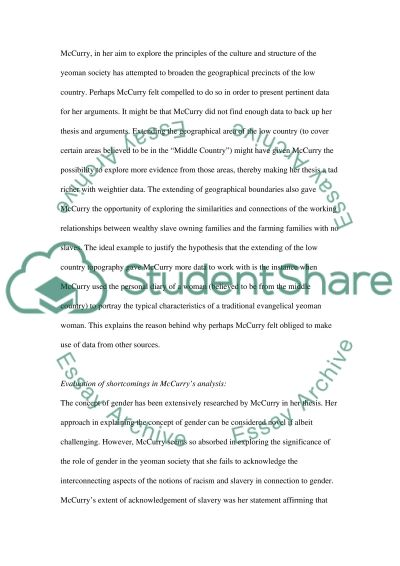 Stephanie McCurrys MAsters of Small Worlds essay example