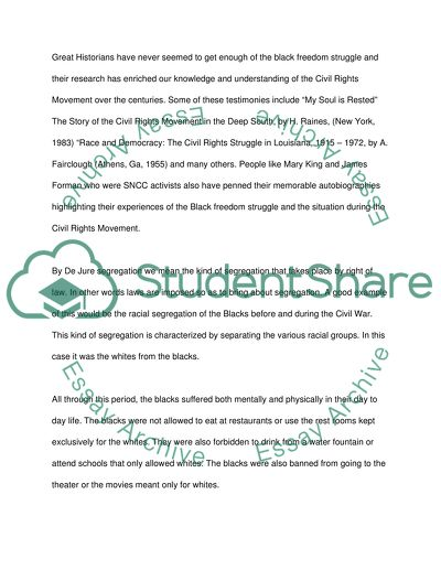 racial segregation essay