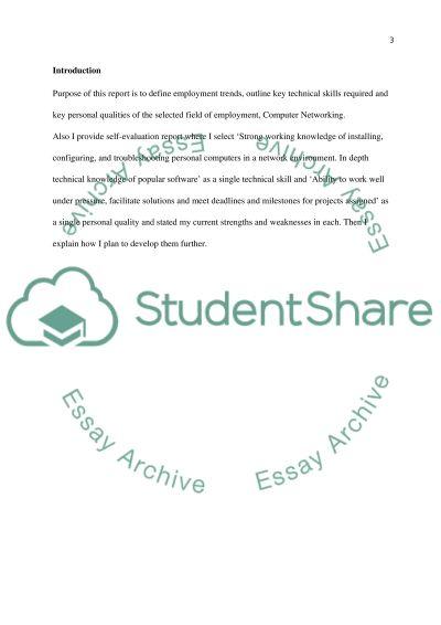 Employment College Essay