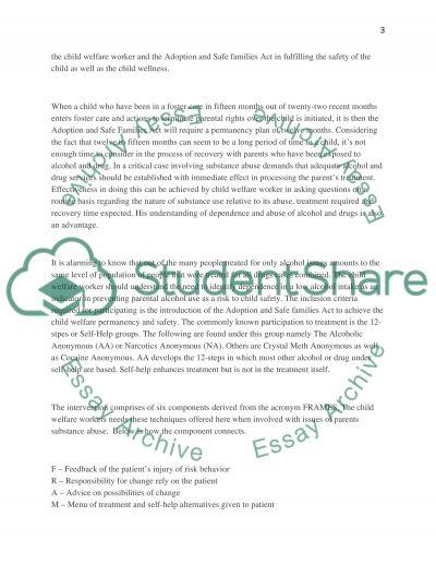 Child Welfare essay example