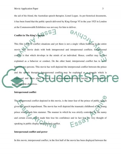 Movie Application Paper Essay example