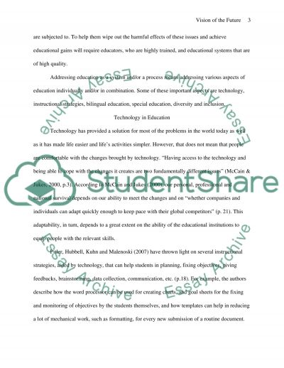Vision of the Purpose and Structure of Schools of the Future essay example