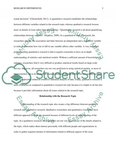 Difference between qualitative and quantitative research essay