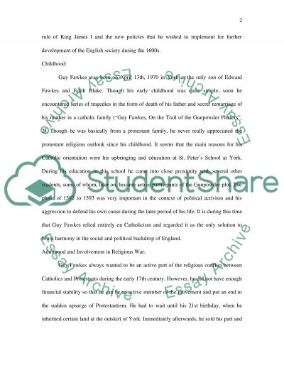 Guy Fawkes essay example