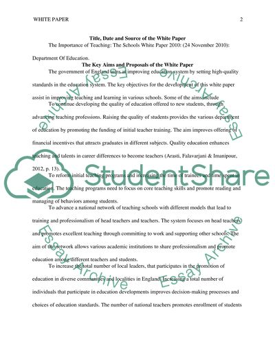 The Importance of Teaching essay example