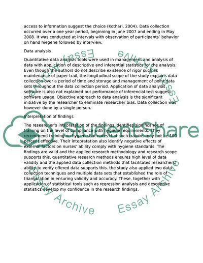 Critical appraisal of a nursing quantitative study