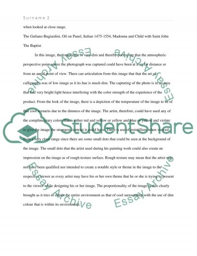 Visual Description & Personal Analysis Essays