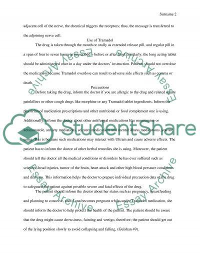 Tramadol essay example