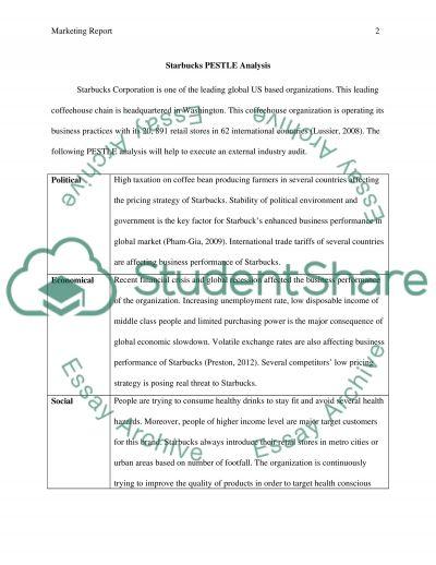 Starbucks marketing report essay example