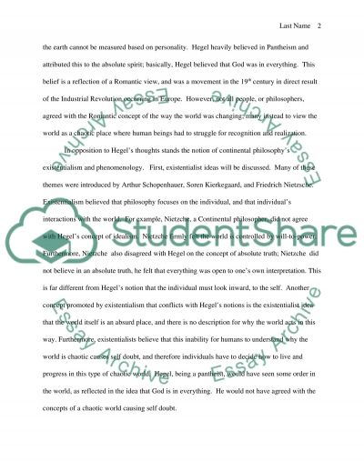 Historical development of Continental Philosophy essay example