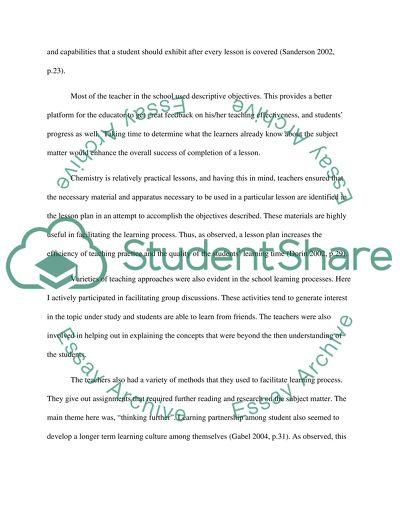 Sample essay about teachers