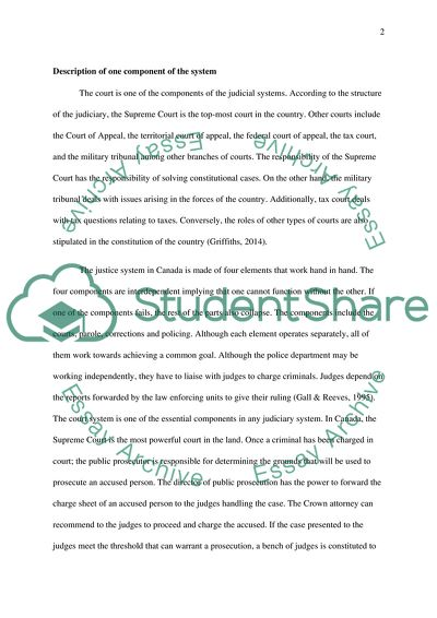 Research Paper Vs Essay The Canadian Criminal Justice System Thesis Examples In Essays also English 101 Essay The Canadian Criminal Justice System Essay Example  Topics And Well  High School Dropout Essay
