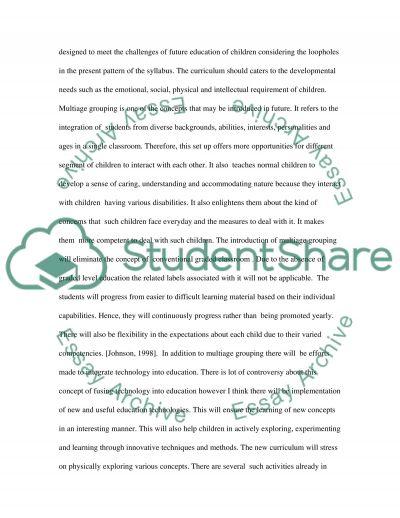 Curriculum Essay