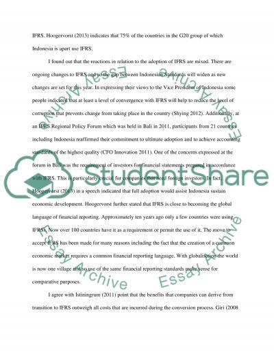 IFRS essay example