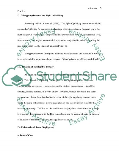Advanced Practice Legal Considerations essay example